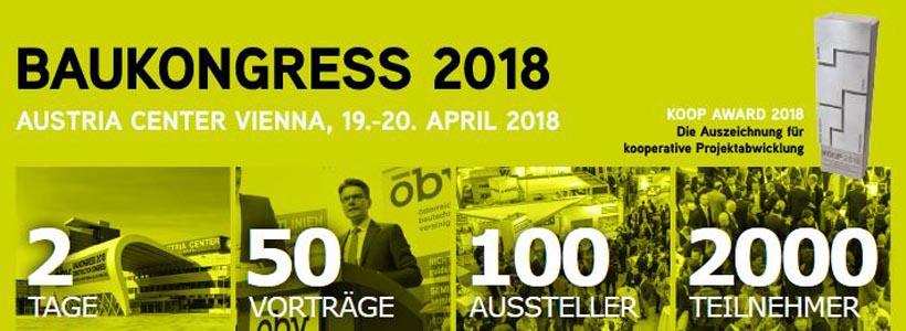 ÖBV Baukongress 19 u. 20. April 2018 in Wien