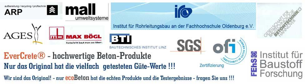 IHAR Handels GmbH - ecoBETON Österreich - Bild Original und Prüfungsergebnisse