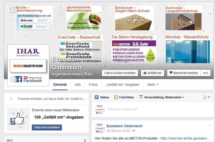 ecoBETON Österreich bei facebook