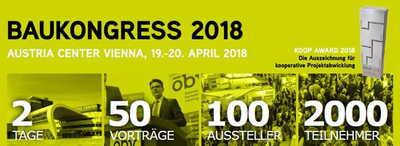 ÖBV Baukongress 19 u. 20. April 2018 in Wien