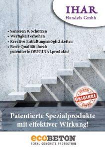 ecoBETON Produkte Faltblatt